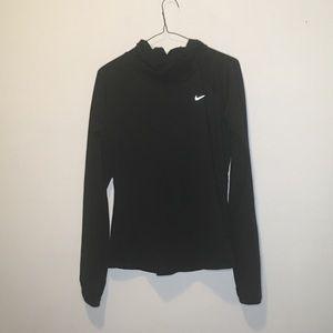 Nike Black Hooded Running Pullover Hoodie L